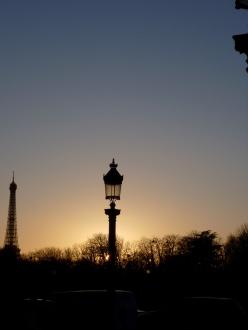 Paris sunset, Eiffel Tower, Place de la Concorde