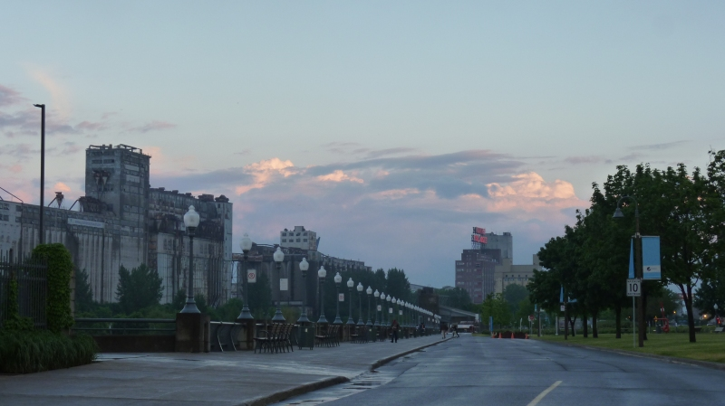 old port Montreal after a storm