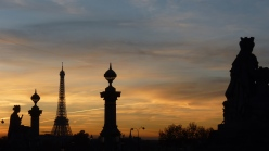 Paris at sunset, Place de la concorde, Eiffel tower