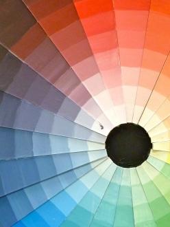 Colour sample wheel