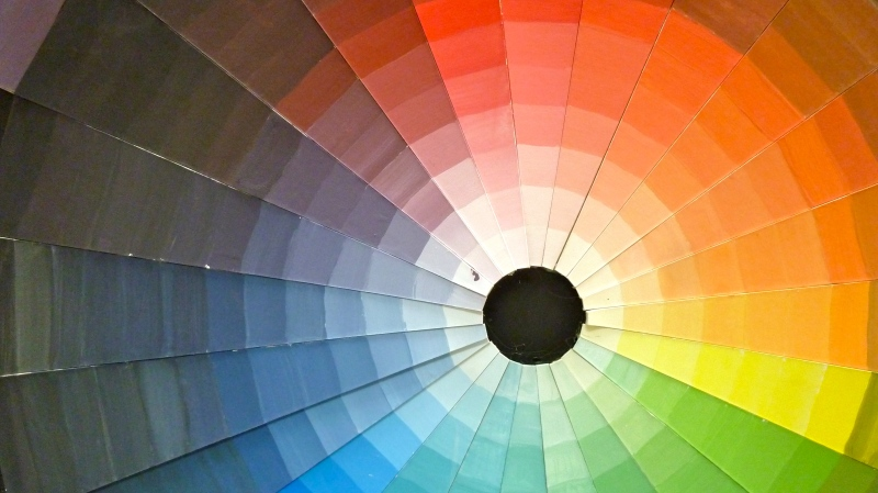 Colour sample wheel
