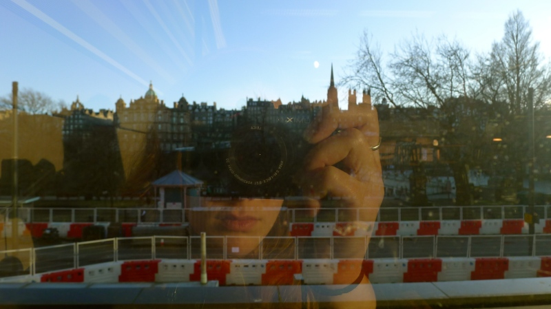 Photographer reflection in Edinburgh
