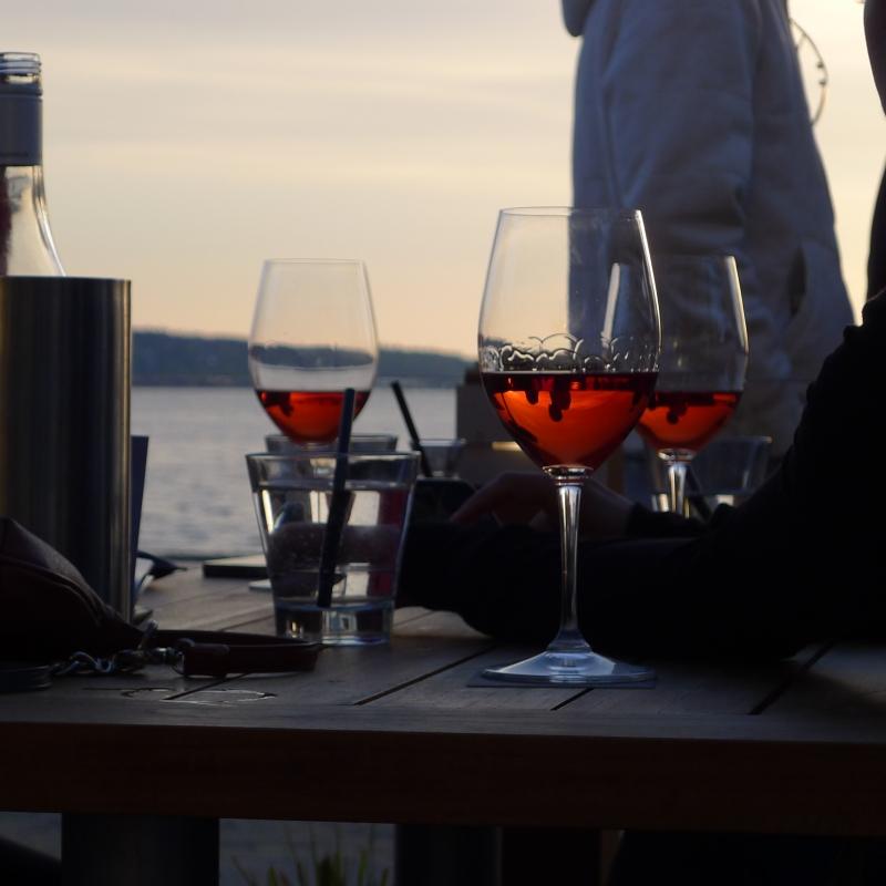 Rose Wine at Sunset