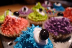 Colourful Monster Cupcakes