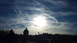 Pont des arts et Institut de France, silhouette