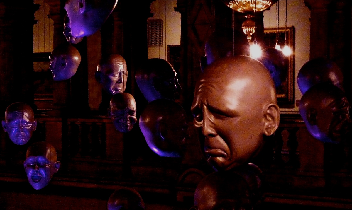 Floating Heads by Sophy Cave, Kelvingrove, Glasgow
