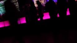 Angled shot of bar lights at Kool Haus, Toronto
