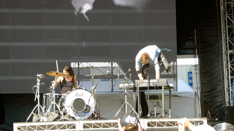 Matt and Kim Groovin the Moo Canberra Australia 2013 live