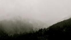fog over BC mountains, birds, Mission, Fraser Valley