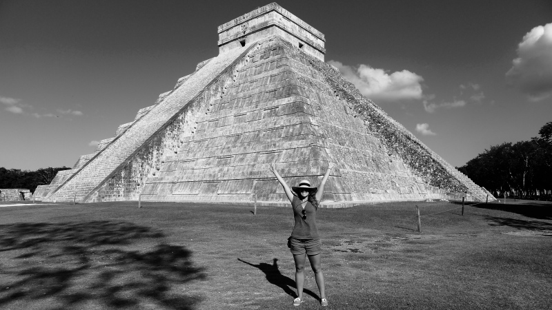 Happy Tourist Chichen Itza
