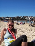 Resting on Bondi Beach after City2Surf