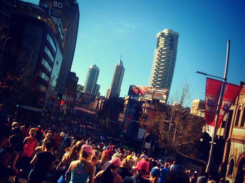 City2Surf 2013, jogging crowds