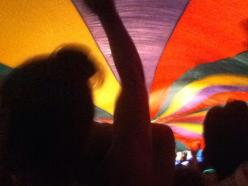 Under the parachute at Osheaga.