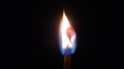 close up of match flame