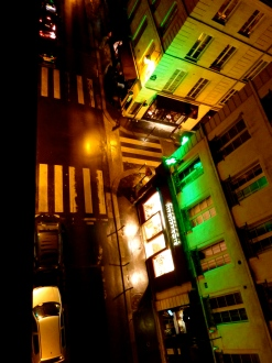 Paris empty street, night