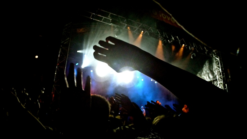concert hands at Groovin the Moo