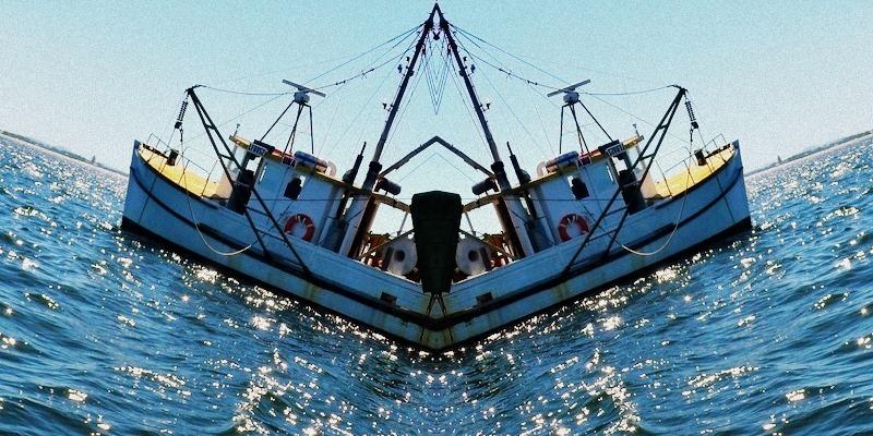 Ausrtalian fishing boat, mirrored image